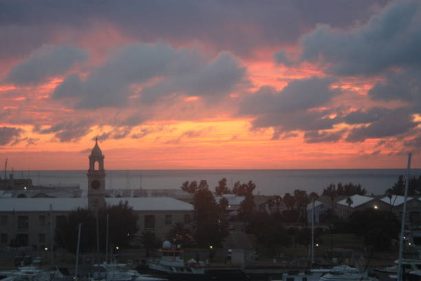 Kings Wharf Sunset stock photo