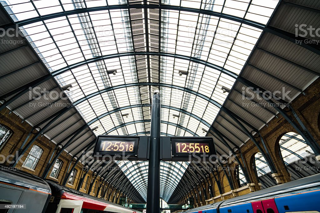 Kings X trains stock photo
