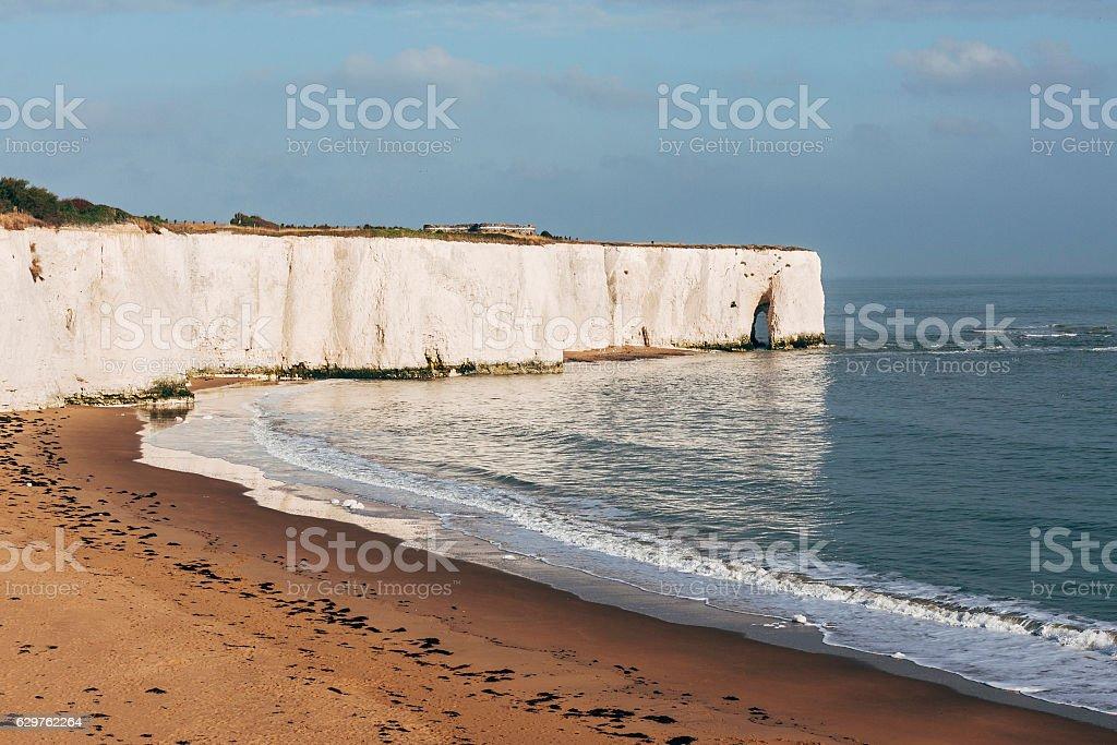 Kingsgate Bay beach near Broadstairs, Thanet, Kent, England stock photo