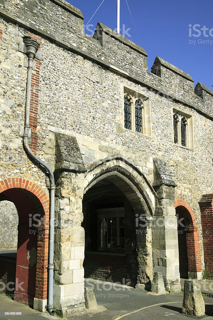 Kingsgate St Swithun Winchester foto stock royalty-free
