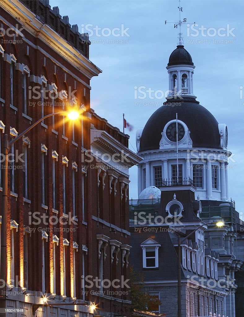 Kingston City Hall and Historic Buildings royalty-free stock photo