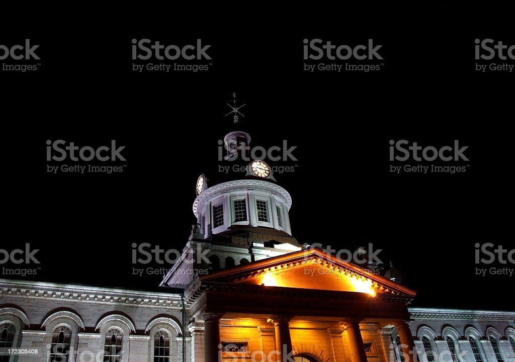 Kingston City Hall at Night royalty-free stock photo