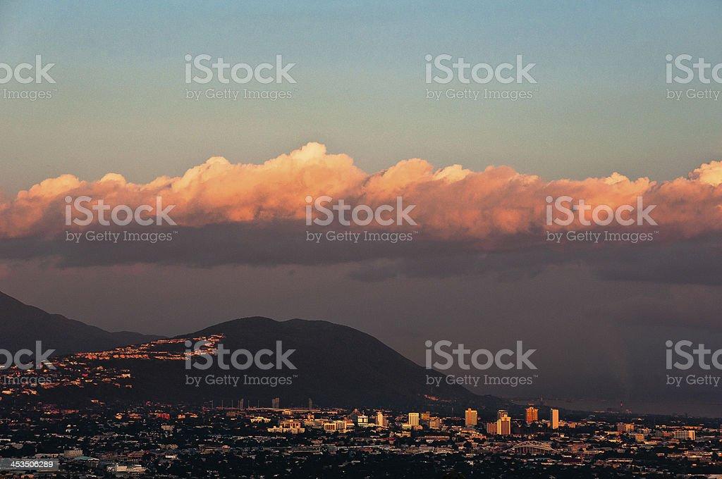 Kingston Jamaica at Sunset stock photo