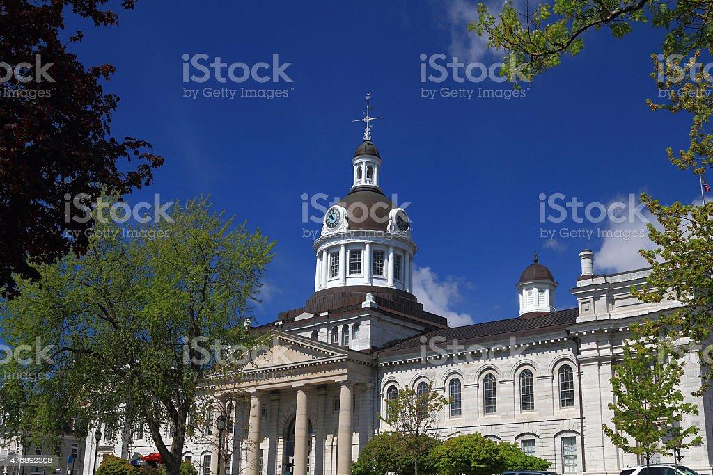 Kingston, Ontario, Canada City Hall Front View stock photo