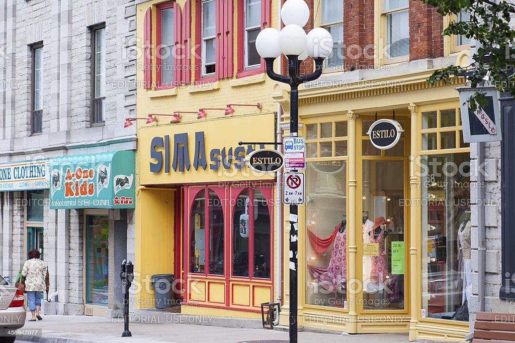 Kingston, Ontario, Princess Street stock photo