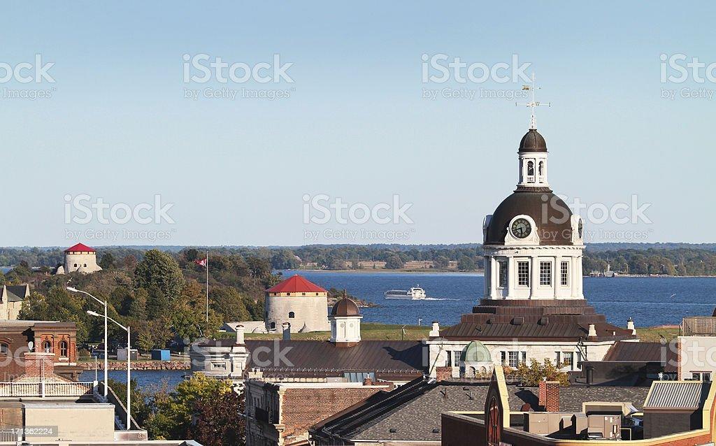 Kingston Skyline from above stock photo