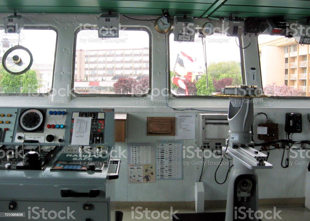 Kingston the wheelhouse warship 2008 stock photo