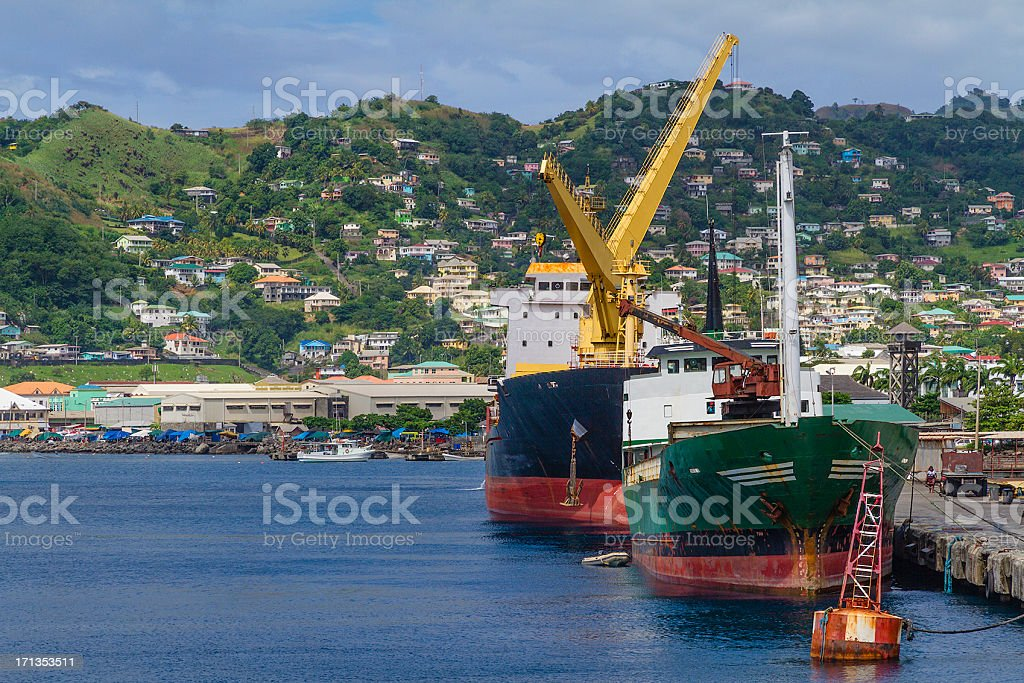 Kingstown Harbor, St. Vincent and the Grenadines stock photo