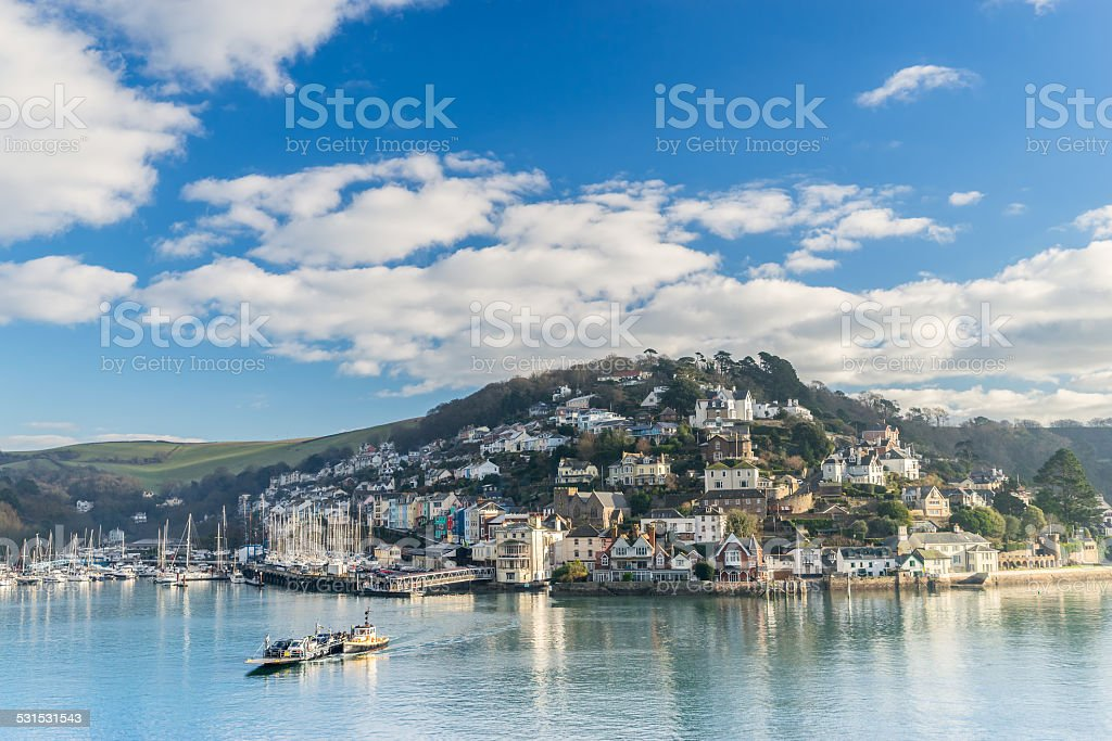 Kingswear from Dartmouth stock photo
