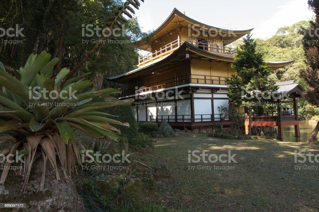 kinkaku-ji of Brazil - Buddhist temple in Itapecerica da Serra, Brazil stock photo