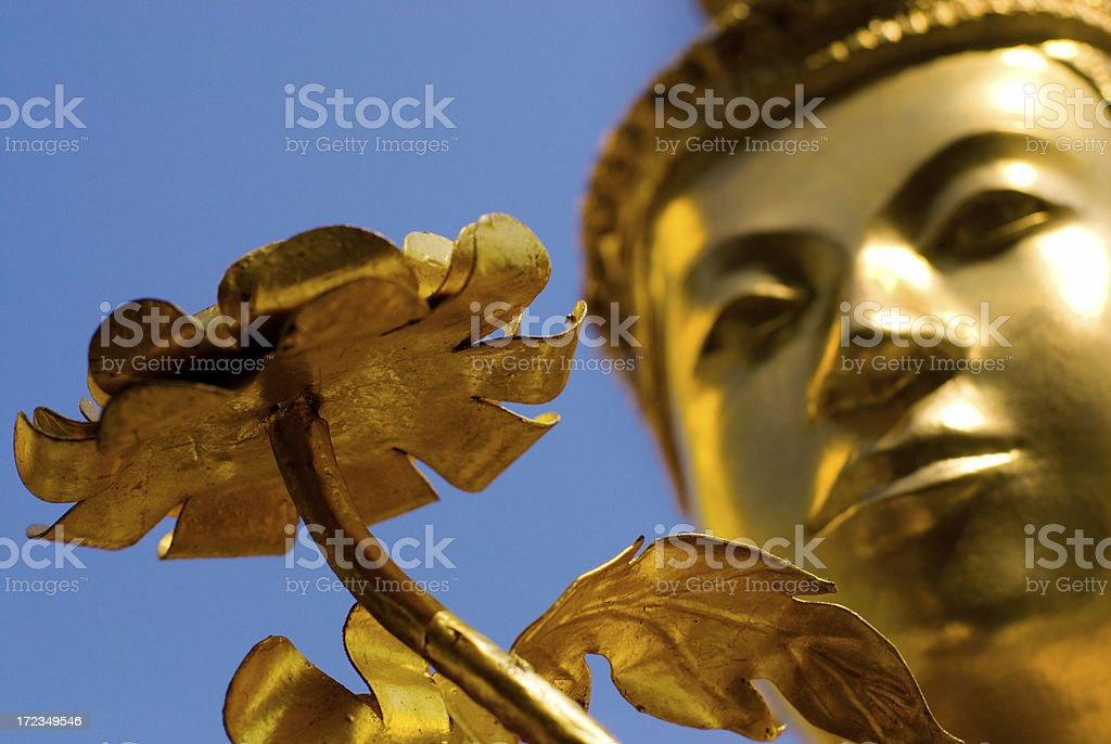 Kinora with Flower at Wat Phra Kaew royalty-free stock photo