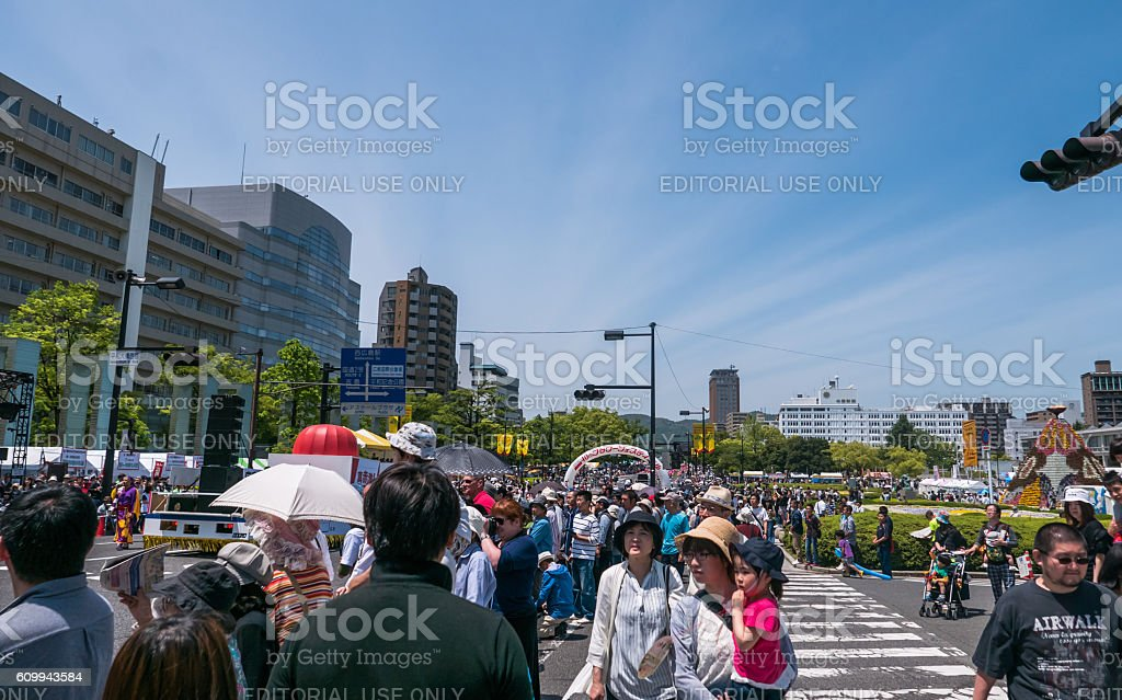 Kinsai Yosakoi Dance Parade stock photo