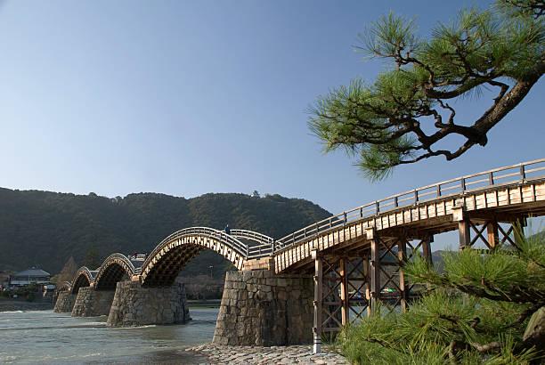 Pont de Kintai avec Pin - Photo