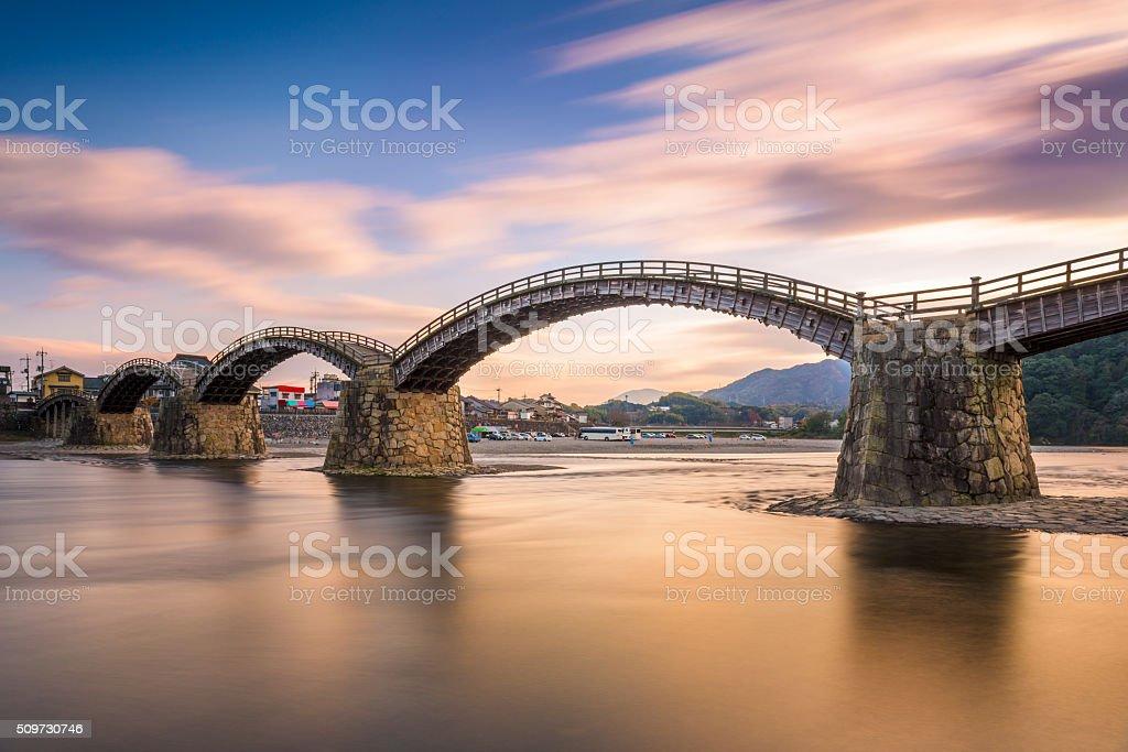 Kintaikyo Bridge in Japan stock photo