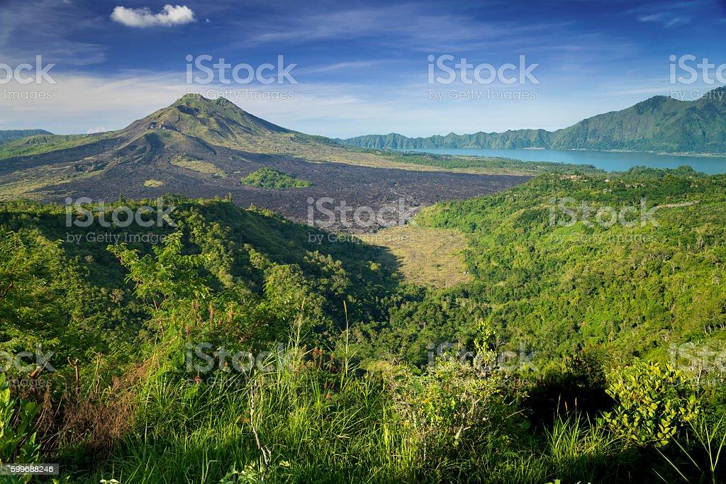 Kintamani Volcano of Bali, Indonesia stock photo