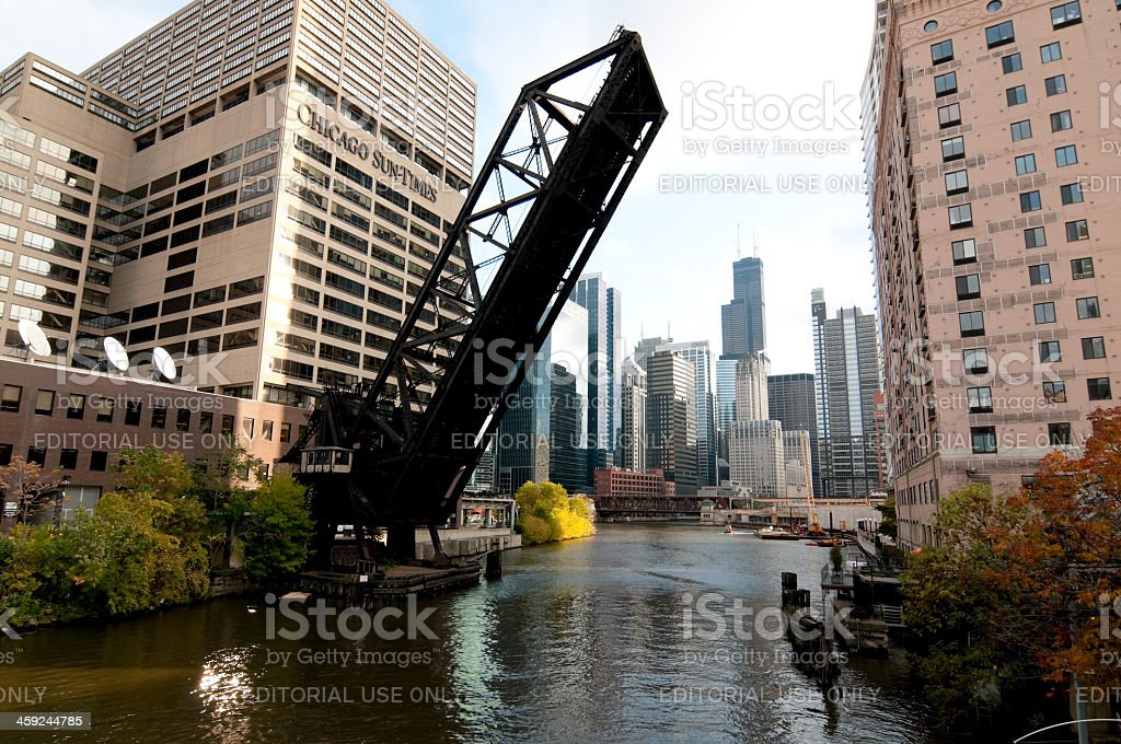 Kinzie Street Bridge royalty-free stock photo