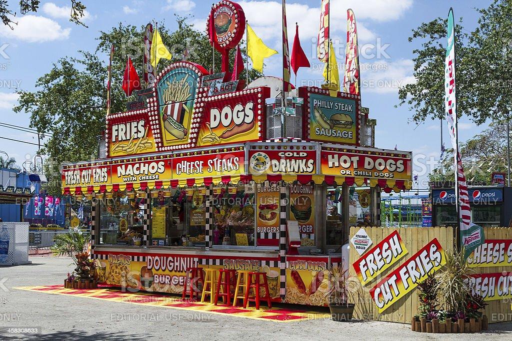 Kiosk at County Fair royalty-free stock photo