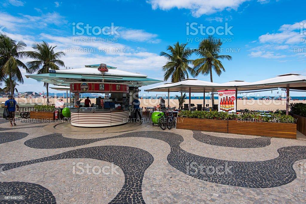 Kiosk in Copacabana stock photo