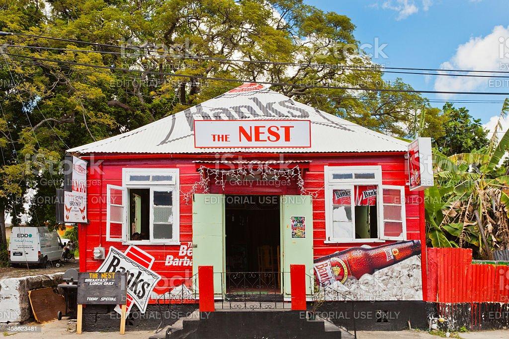 Kiosk of Bridgetown, Barbados stock photo