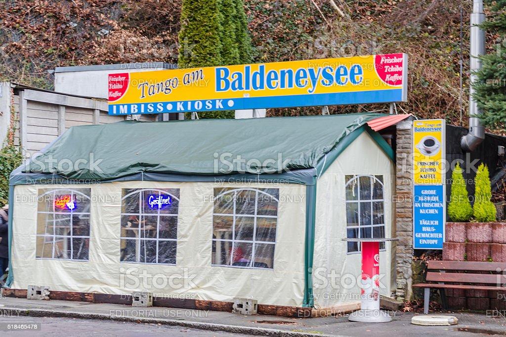 Kiosk, snack-bar im Baldeneysee, Deutschland – Foto