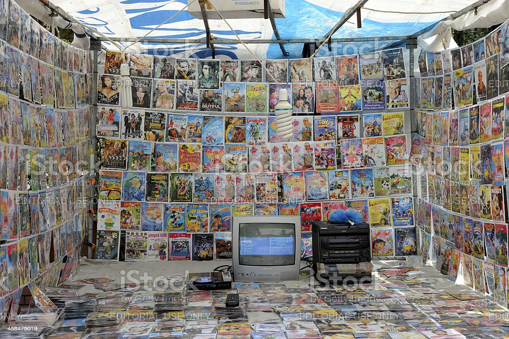 Kiosk With Pirated Dvds Stock Photo - Download Image Now - iStock