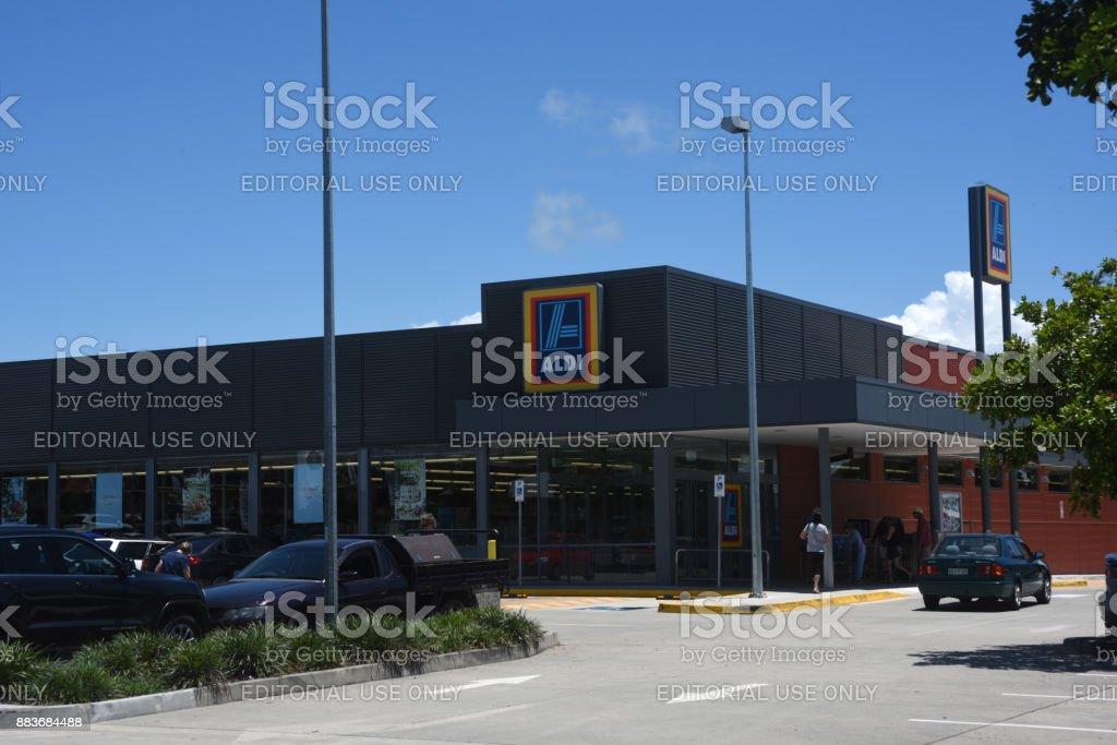 Kippa-Ring, Queensland, Australia: Supermercado Aldi - foto de stock