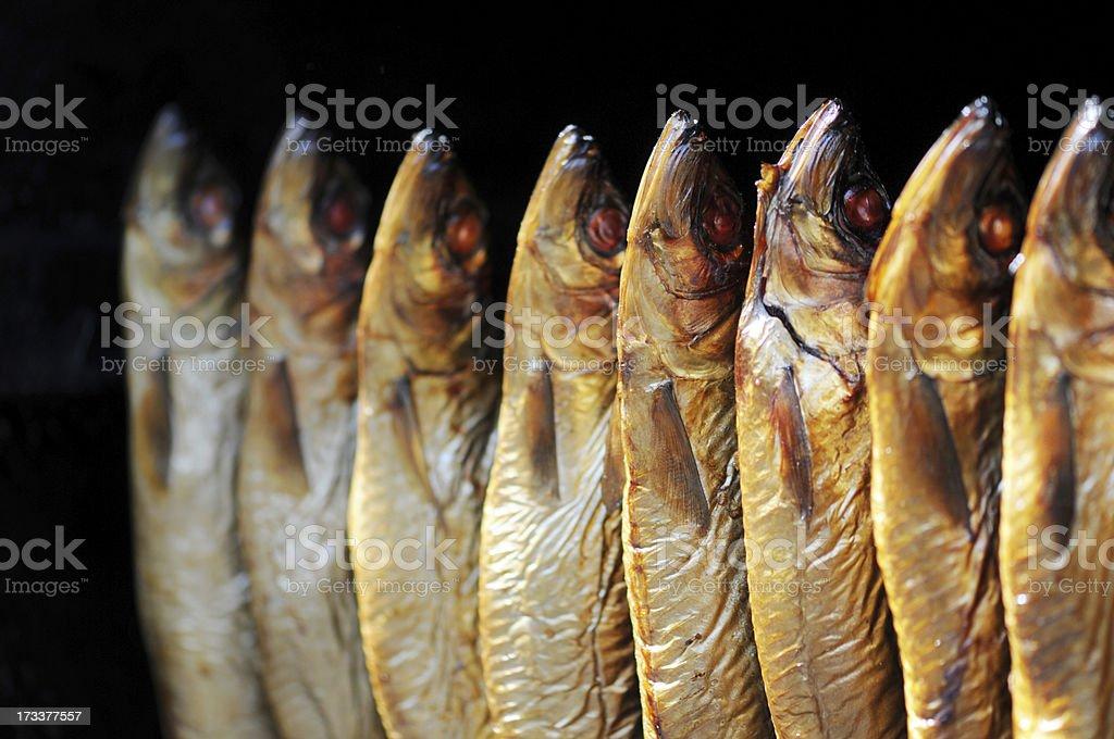 Arenque Defumado (preparado peixe - foto de acervo