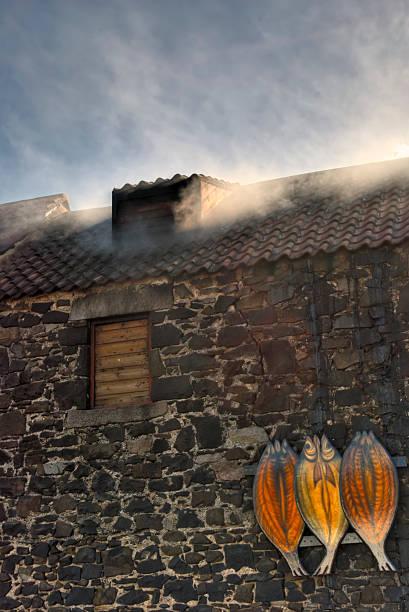 Kipper smokehouse in Craster stock photo