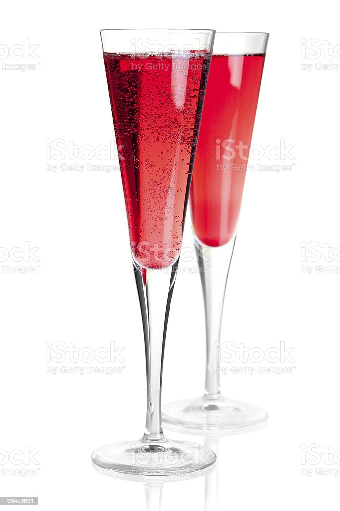 Kir royal alcohol cocktail royalty-free stock photo