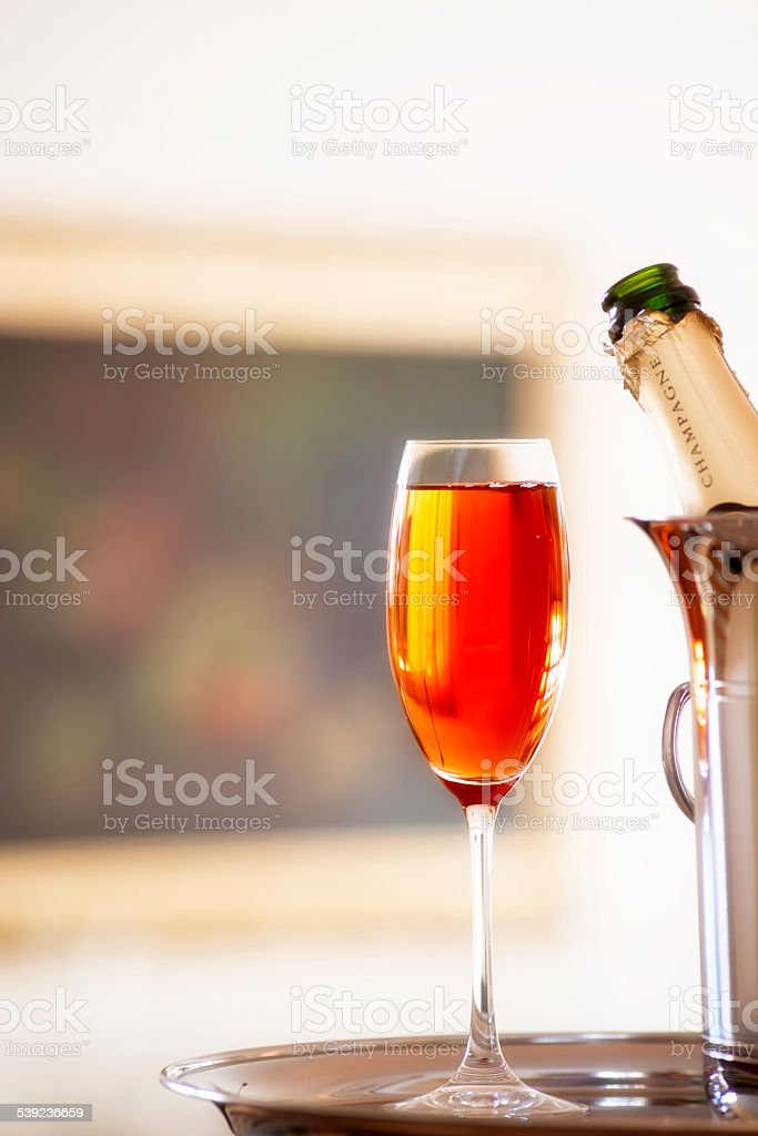 Kir Royal stock photo