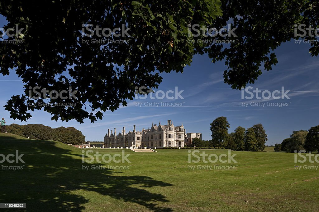 Kirby Hall Northamptonshire England stock photo