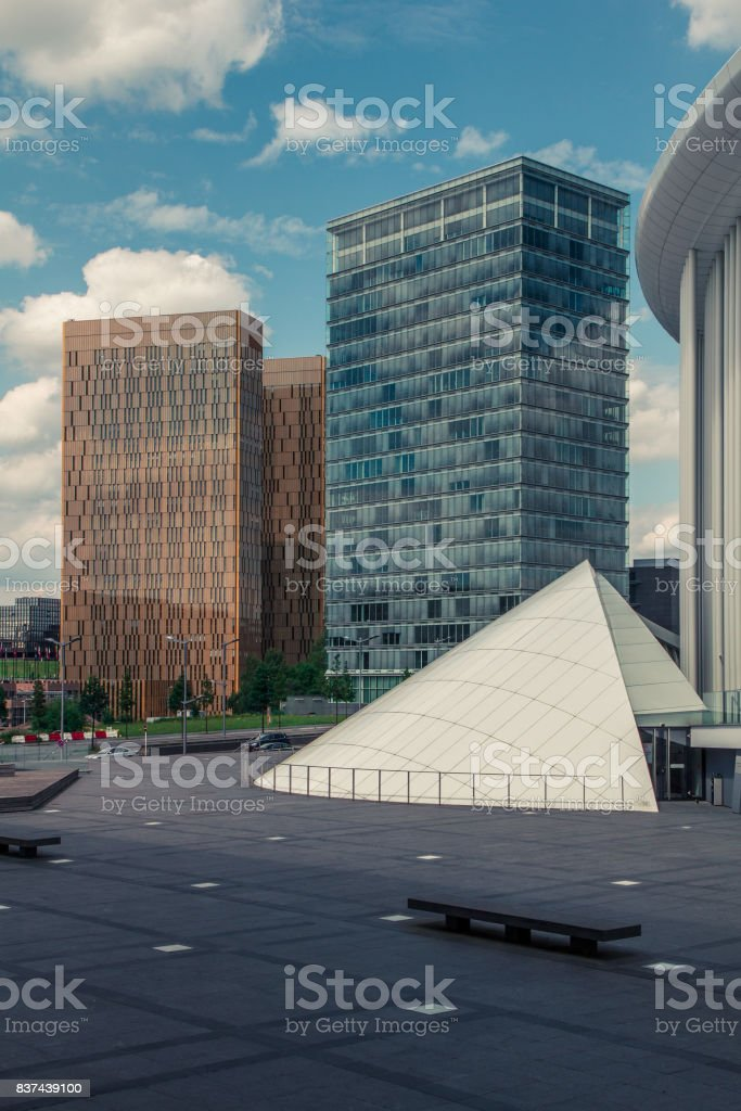Kirchberg district in Luxembourg stock photo