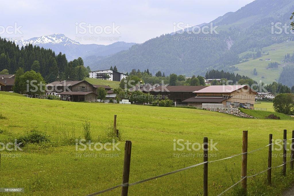 Kirchberg in Tirol with Gaisberg in the background stock photo