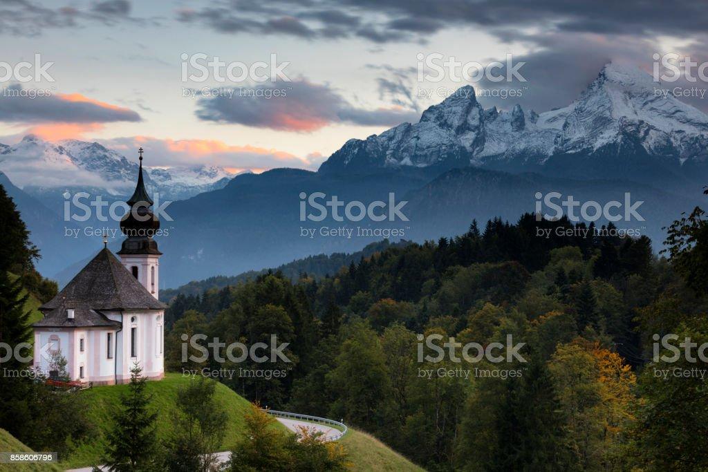Kirche Maria Gern bei Berchtesgaden stock photo