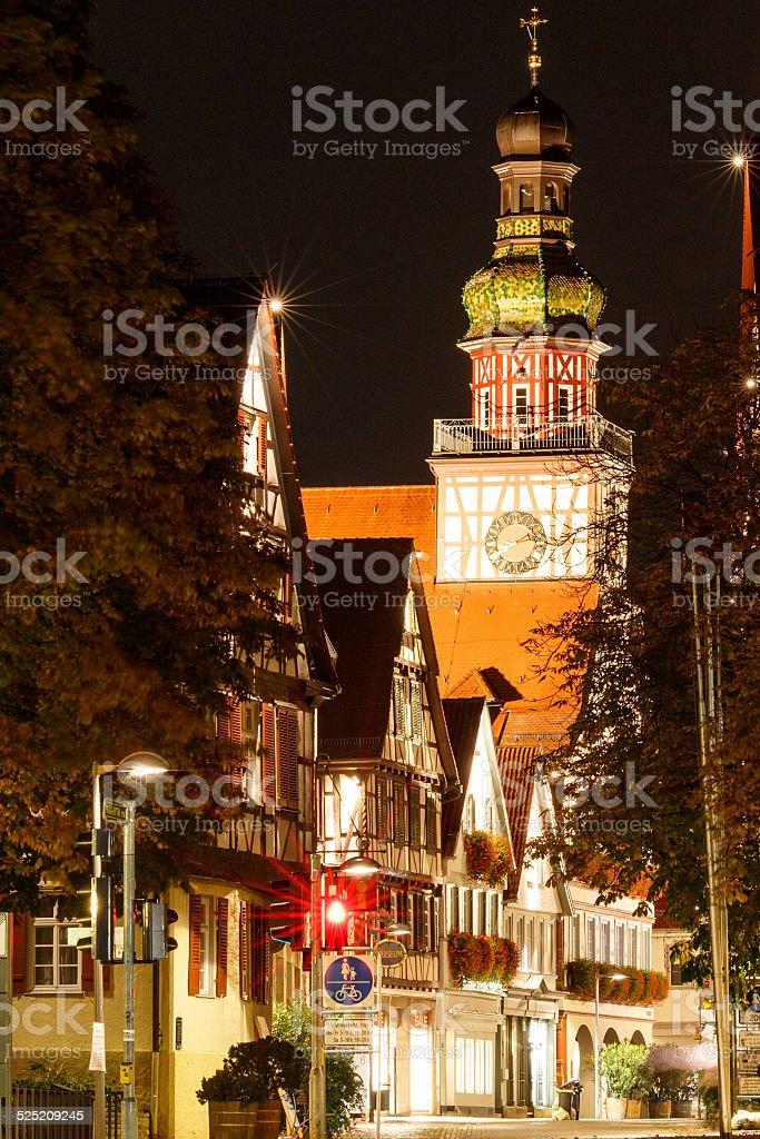 Kirchheim Teck am Abend stock photo
