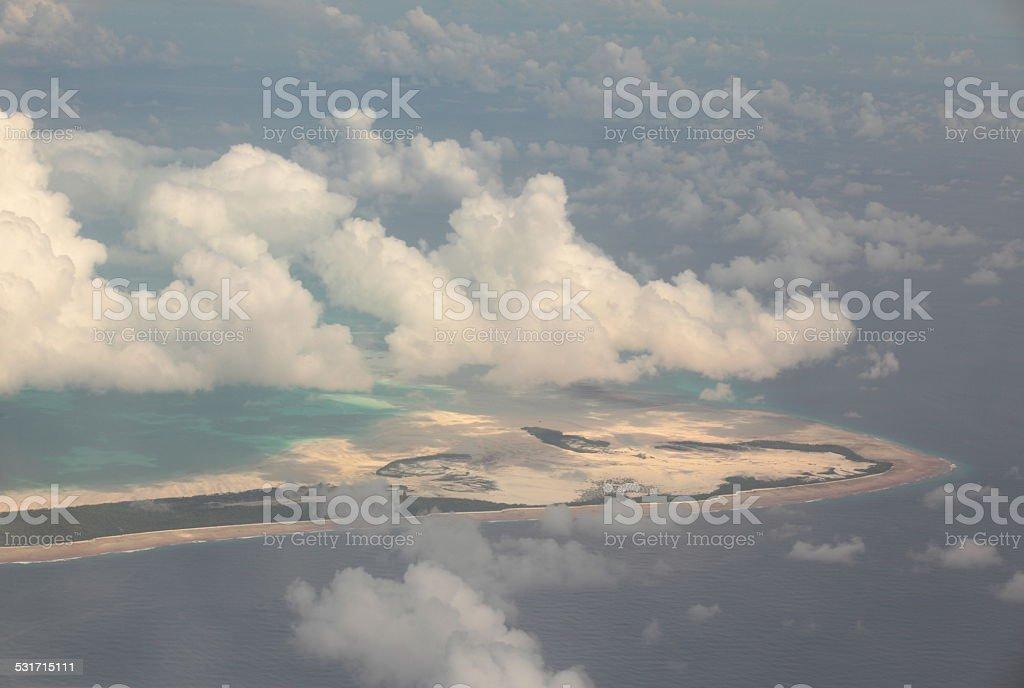 Kiribati, an island from the air stock photo
