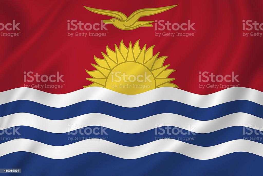 Kiribati flag stock photo