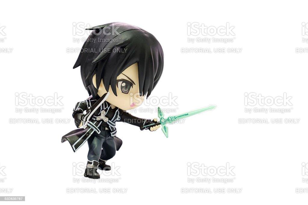 Kirito Nendoroid, Character of Sword Art Online Anime stock photo
