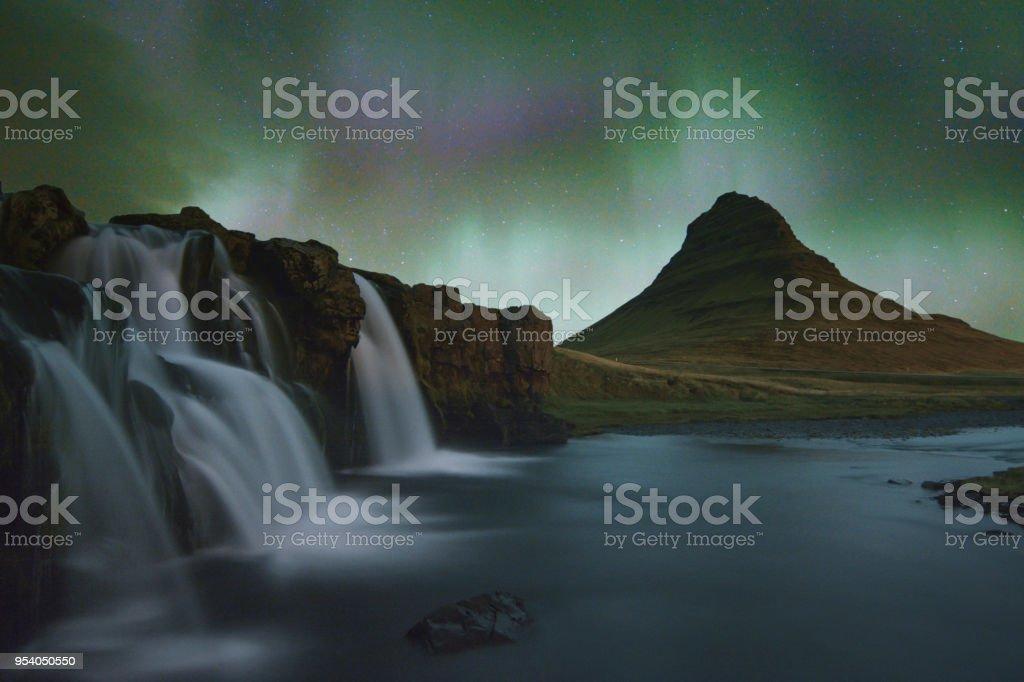 Kirkjufell Iceland stock photo