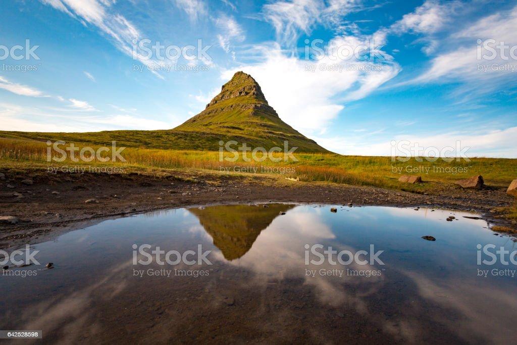 Kirkjufell Mount, Snaefellsness Peninsula, Iceland stock photo