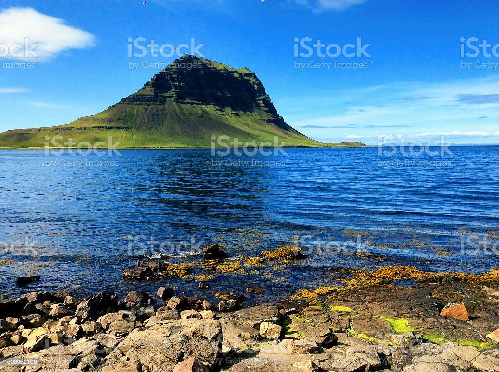 Kirkjufell mountain in Iceland stock photo