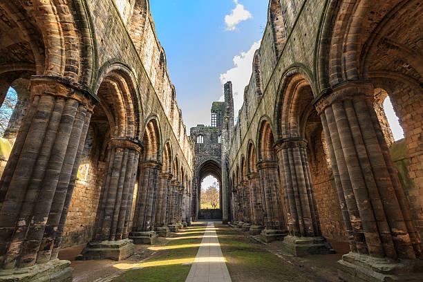Kirkstall Abbey in Leeds stock photo