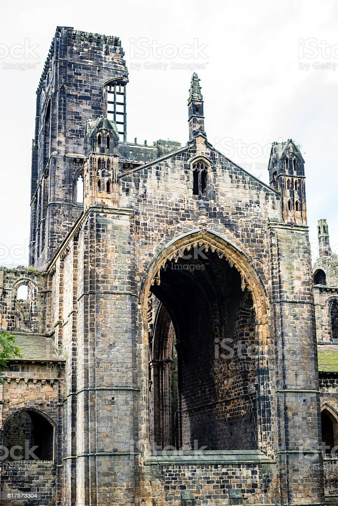 Kirkstall Abbey in Leeds West Yorkshire United Kingdom stock photo