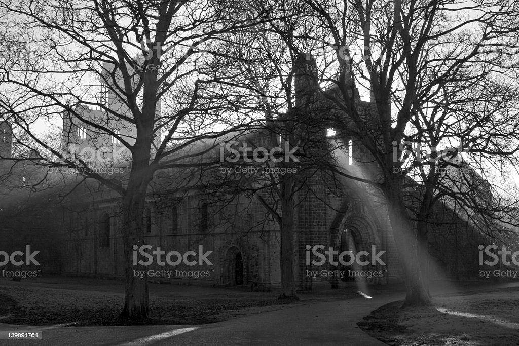 Kirkstall Abbey, Leeds, West Yorkshire stock photo