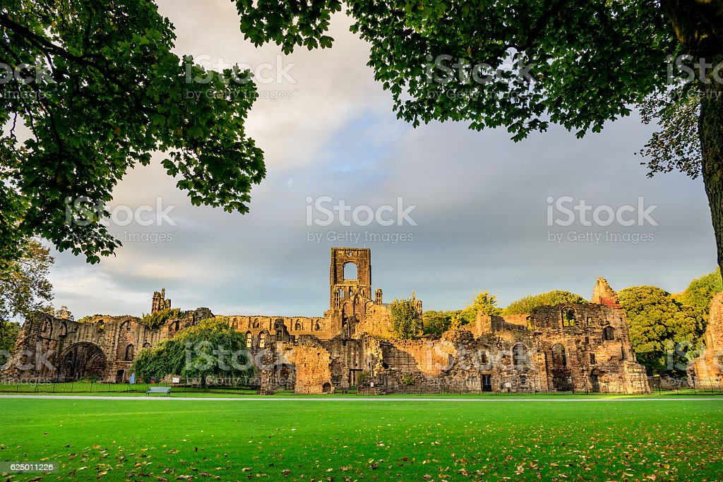 Kirkstall Abbey, Leeds-West Yorkshire,England stock photo