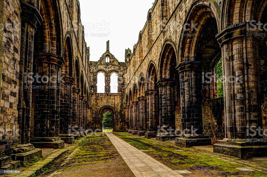 Kirkstall Abbey. stock photo