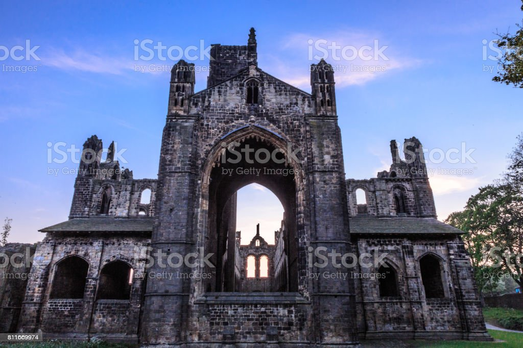 Kirkstall Abbey, West Yorkshire, UK stock photo