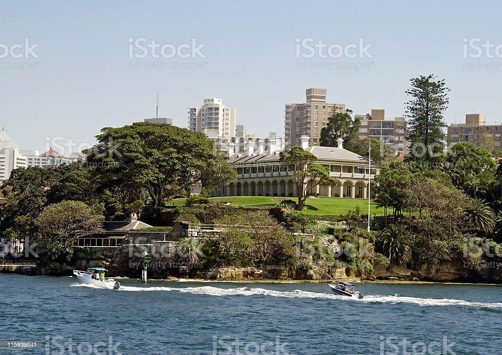 Kirribilli Point, Sydney Harbour royalty-free stock photo
