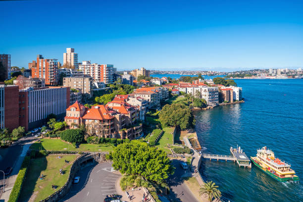 Kirribilli skyline in Sydney stock photo