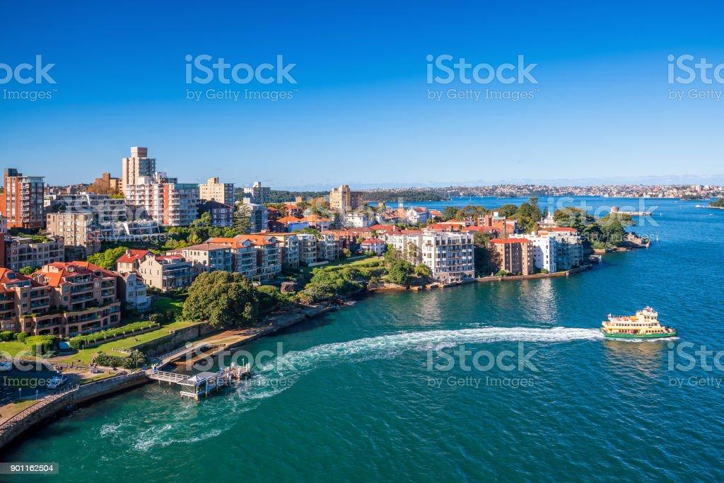 Kirribilli skyline in Sydney stock photo